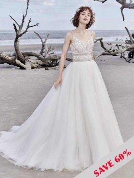 """Sottero & Midgley """"Saylor Rose"""" Wedding Dress UK12"""