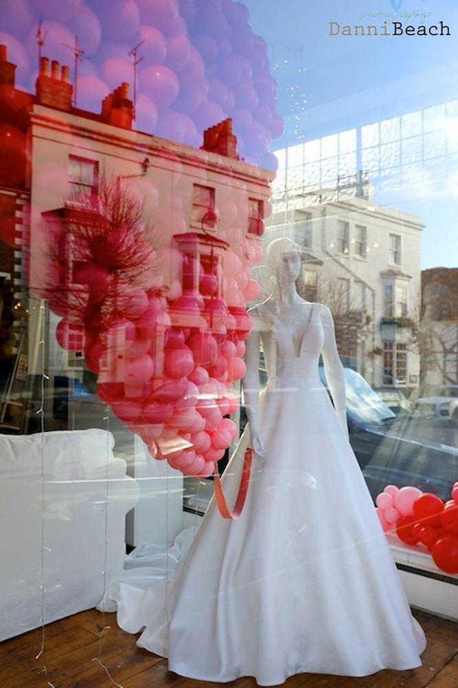 #thewindowat62 #loveisintheair valentines window display